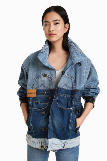 Iconic Jacket met lapjes spijkerstof   Desigual