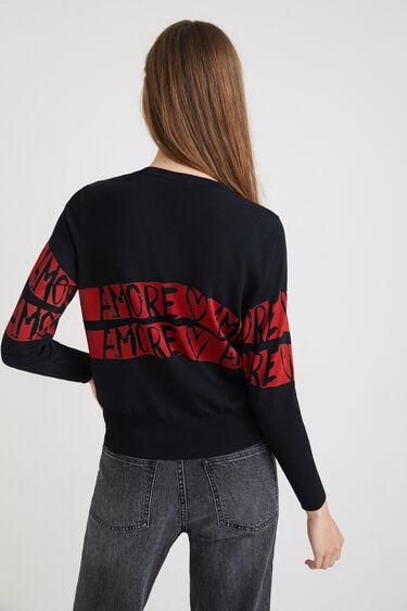 Maglione a maglia amore | Desigual