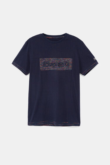 T-shirt logo embroidered on patch | Desigual