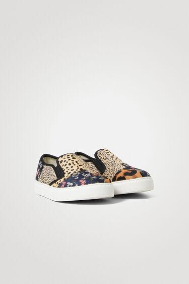 Sneakers slip on en cuir | Desigual