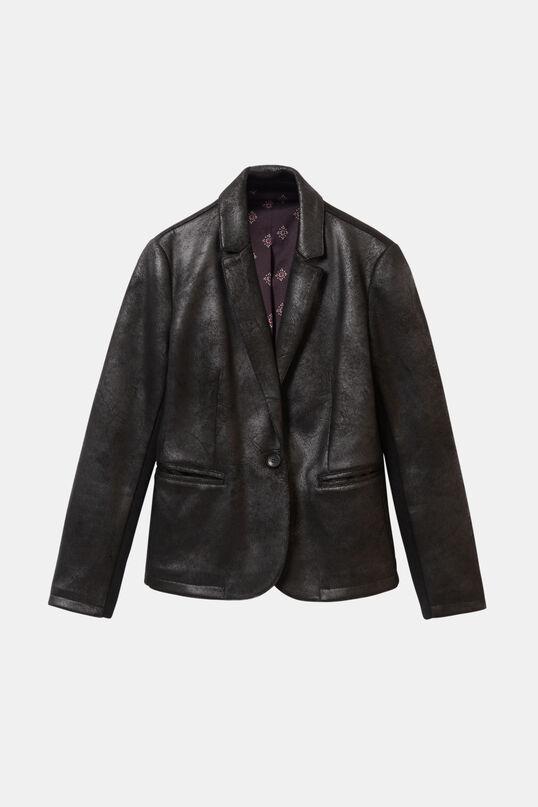 Blazer simili cuir effet vieilli | Desigual