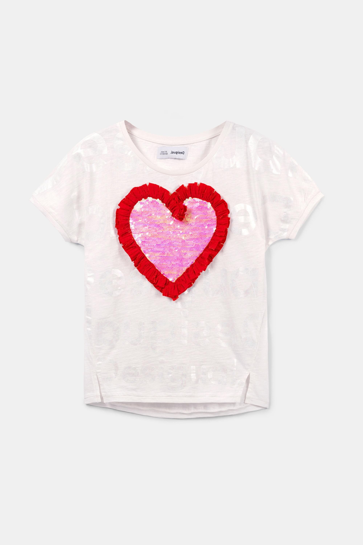 Heart sequins T shirt