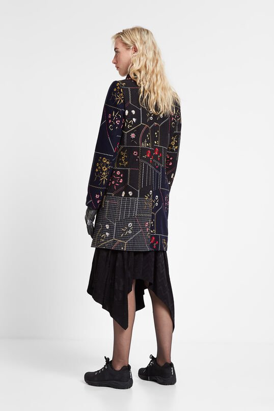 Floral patch coat | Desigual