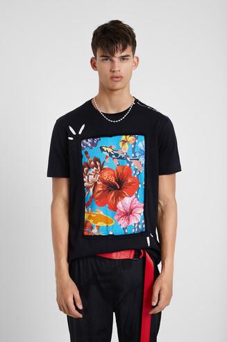 T-shirt empiècement 100% coton