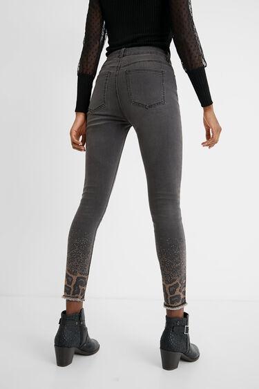 Pantalon en jean skinny ornements   Desigual