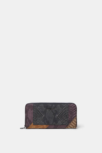 Texture leather effect wallet