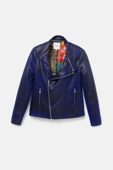 Biker jacket embossed back   Desigual