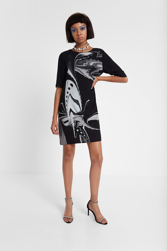 Viscose T-shirt dress Designed by M. Christian Lacroix