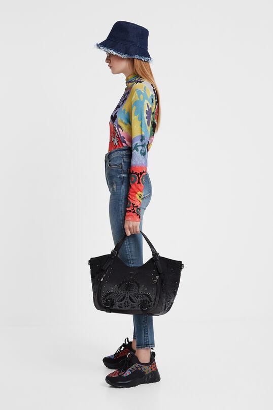Floral embossed shoulder bag | Desigual