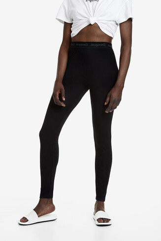Long stretch-waist leggings