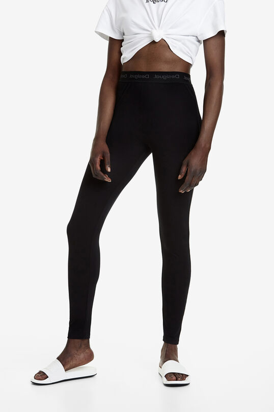 Long stretch-waist leggings | Desigual