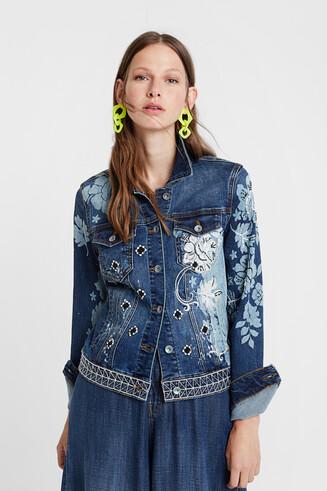 Jean jacket flowers