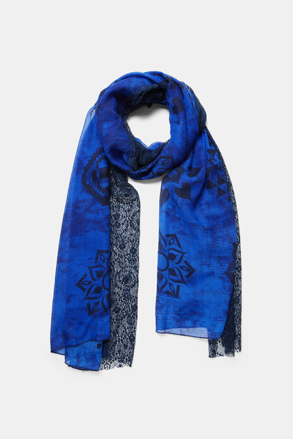 Blonde lace mandalas foulard