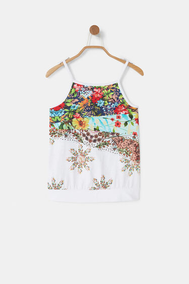 Cotton print tank top | Desigual