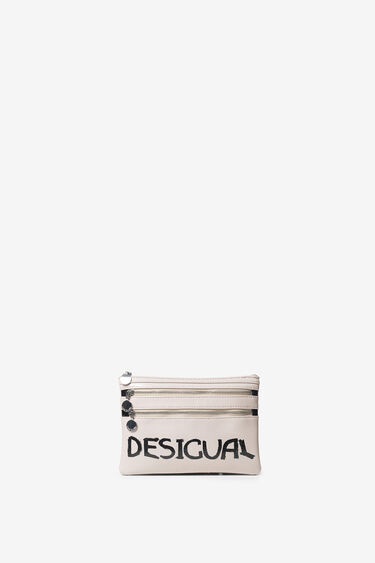 Leather effect coin purse lips | Desigual