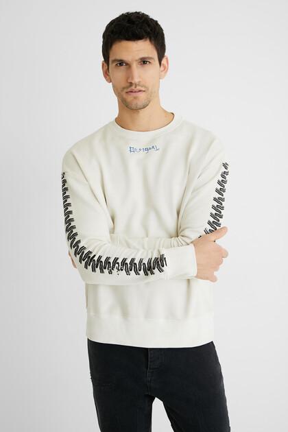 Plush sweatshirt zippers