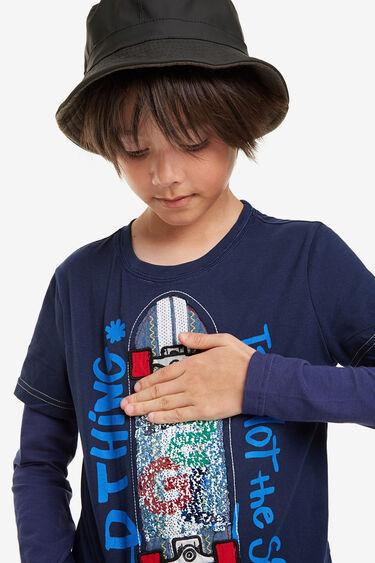 Samarreta màniga doble bàsica | Desigual