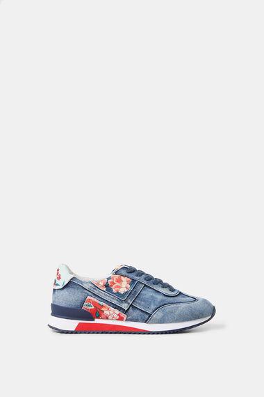 Sneakers Laufschuhe Denim Patch