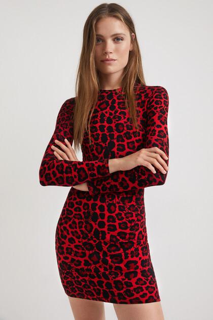 Vestit curt slim lleopard