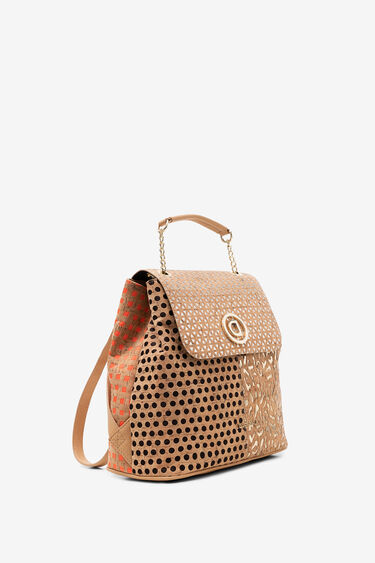 Patch backpack of cork and metal | Desigual