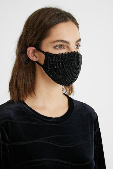 Masque basique + résille strass + housse | Desigual