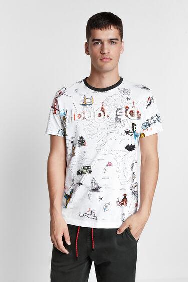 100% cotton map T-shirt | Desigual