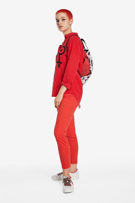 Rote Bluse mit Venus-Symbolen | Desigual