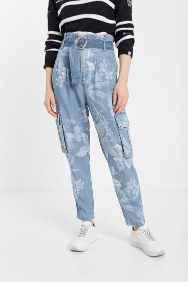 Floral Tencel™ cargo jeans | Desigual