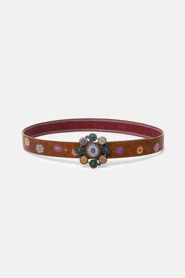 Belt embroidered balls plaque | Desigual
