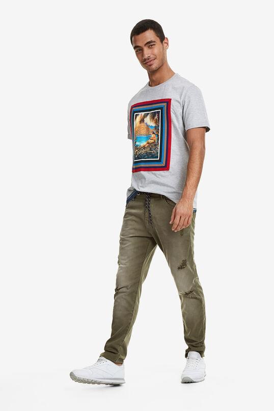 Denim waist Hawaiian T-shirt | Desigual