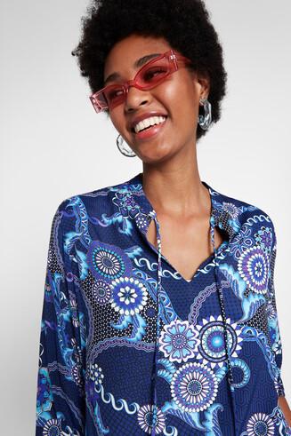 Boho-Bluse mit gebauschten Ärmeln