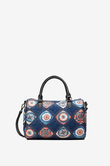 丸い装飾柄ボーリングバッグ | Desigual
