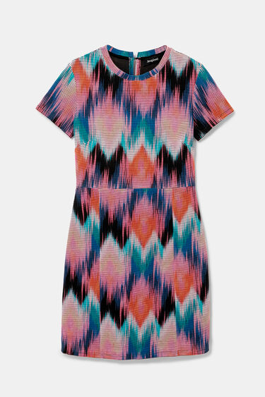 Arty psychedelic diamonds dress | Desigual