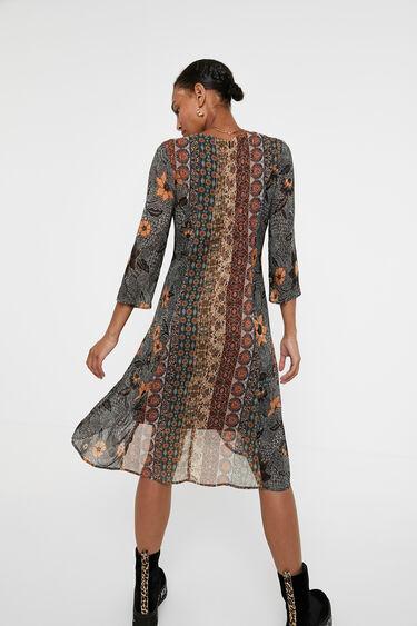Kleid mit Boho-Bordüren | Desigual