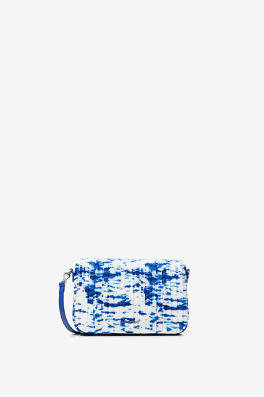 Pleated sling bag with sea waves | Desigual