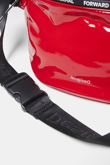 Patent leather bum bag messages | Desigual