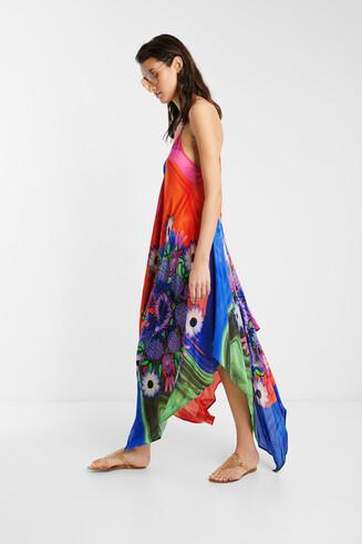 Vestido playero eco y floral
