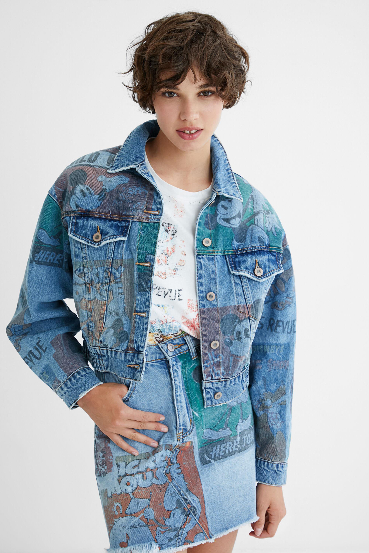 Giacca di jeans oversize Topolino BLUE S