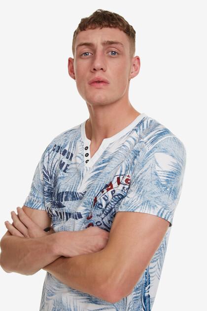 Camiseta con print tropical Rever