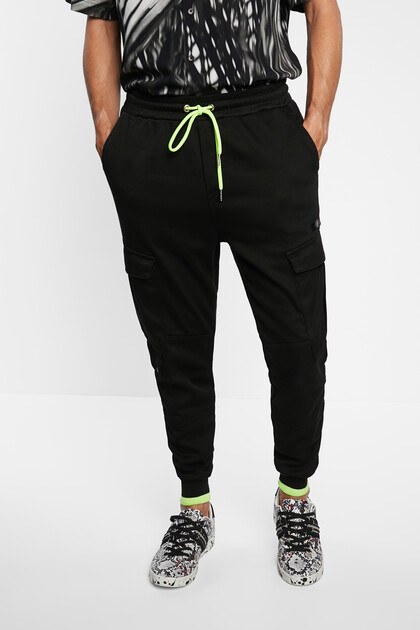 Slim jogging trousers cargo
