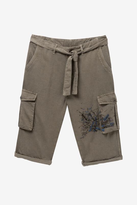 Pantalón short cargo caqui Eric | Desigual