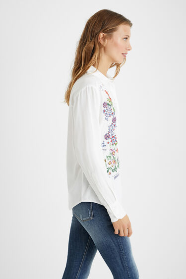 Embroidered shirt flowers | Desigual