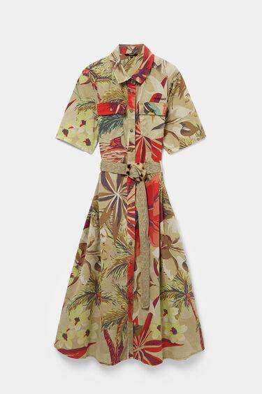 Robe Safari en Tencel™ camouflage floral | Desigual