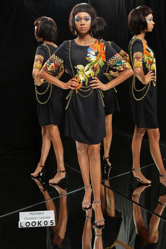 Viscose jurk met driekwartsmouwen Designed by M. Christian Lacroix | Desigual