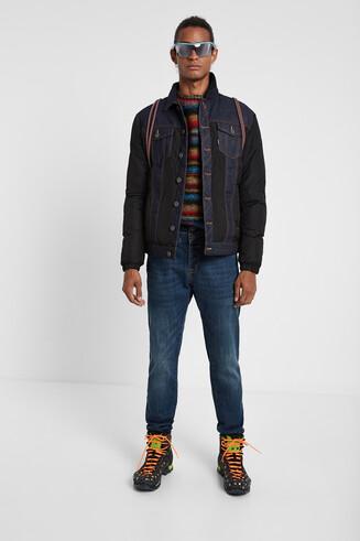 Giacca di jeans imbottita