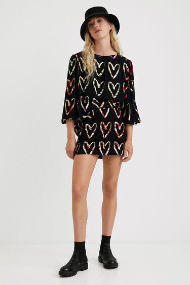 Loose crepe hearts blouse | Desigual