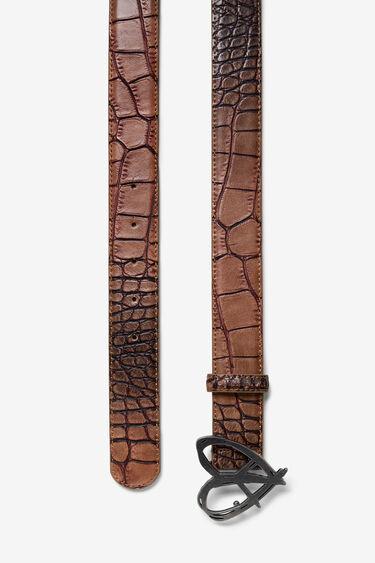 Ceinture effet peau de serpent | Desigual