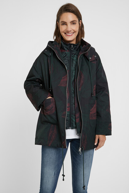 Oversize waterproof jacket 2 in 1