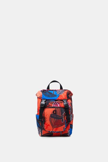 Plecak w stylu trekkingowym z nadrukiem tropikalnym
