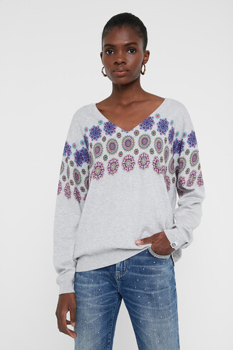 Sweater floral mandala